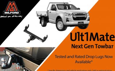 Milford launches award winning Next Gen Towbar for Isuzu D-MAX MY21